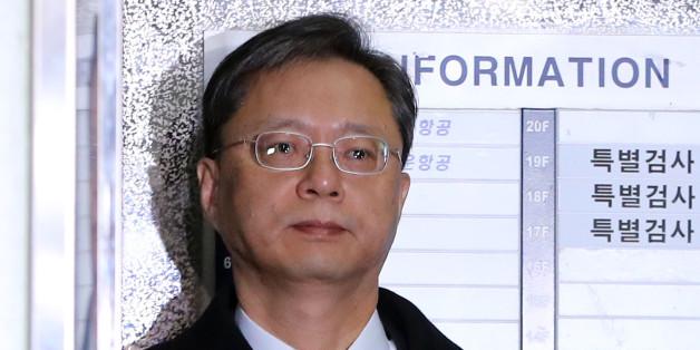 우병우 전 청와대 민정수석비서관이 18일 오전 서울 강남구 대치동 특검 조사실로 향하고 있다.