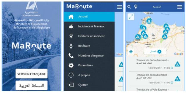 """L'application """"MaRoute"""" lancée au Maroc pour suivre l'information routière en temps réel"""