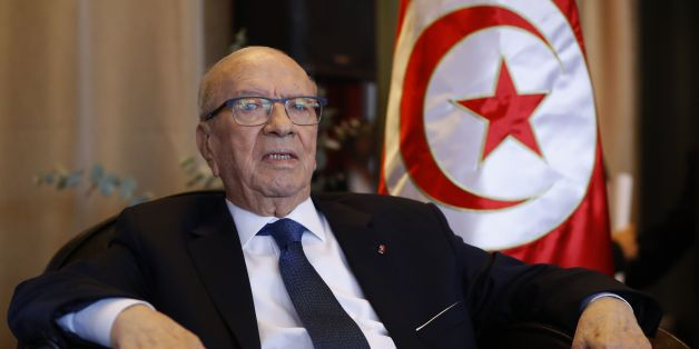 Tunisia's President Beji Caid Essebsi is pictured prior to a lunch with the Cercle des Medias association on December 2, 2016 in Paris. / AFP / PATRICK KOVARIK        (Photo credit should read PATRICK KOVARIK/AFP/Getty Images)