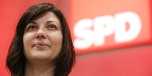 Johanna Uekermann, head of the Social Democratic Party (SPD) youth organization Juso, poses for the media during the SPD party congress in Berlin, Germany, December 11, 2015.   REUTERS/Fabrizio Bensch