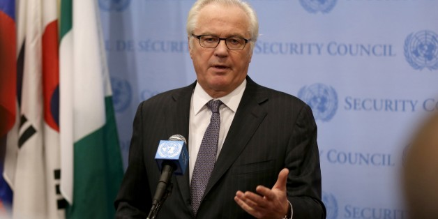 NEW YORK, UNITED STATES - (ARCHIVE): A file photo dated 6 March 2014 shows United Nations Permanent Representative of Russia Vitaly Churkin during a press conference after a United Nations Security Council meeting in New York, United States. United Nations Permanent Representative of Russia Vitaly Churkin passed away at the age of 64 in New York according to Russian Foreign Ministry. (Photo by Bilgin S. Sasmaz/Anadolu Agency/Getty Images)