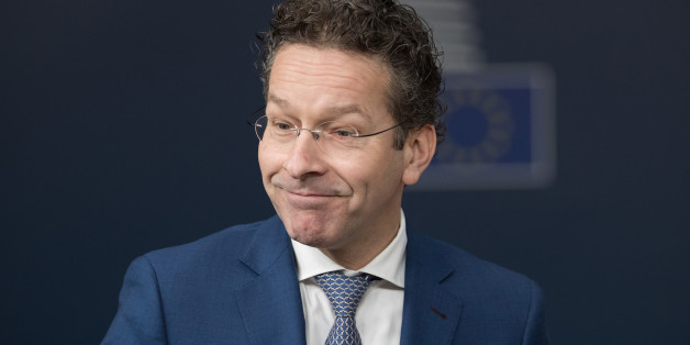 Jeroen Dijsselbloem, Dutch finance minister and head of the group of euro-area finance ministers, reacts as he arrives for an Ecofin meeting of European Union (EU) finance ministers in Brussels, Belgium, on Tuesday, Feb. 21, 2017. Euro-area finance ministers on Monday poured cold water on a quick disbursal of new aid payments, with Athens and its creditors agreeing to pick up discussions in the coming days. Photographer: Jasper Juinen/Bloomberg via Getty Images