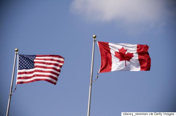 canada us flag