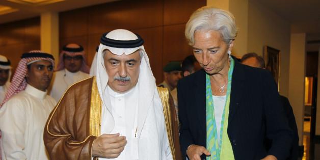 Christine Lagarde, présidente du FMI, avec Ibrahim Assaraf, ministre saoudien des Finances lors de son dernier déplacement en 2015.