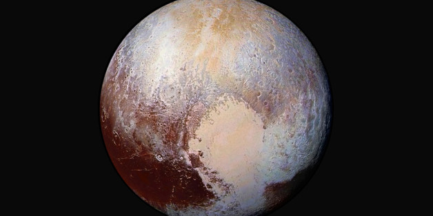This NASA's photo of Pluto was made from four images from New Horizons' Long Range Reconnaissance Imager (LORRI) combined with color data from the Ralph instrument in this enhanced color global view released on July 24, 2015. The images, taken when the spacecraft was 280,000 miles (450,000 kilometers) away, show features as small as 1.4 miles (2.2 kilometers).     REUTERS/NASA/JHUAPL/SwRI/Handout  TPX IMAGES OF THE DAY  FOR EDITORIAL USE ONLY. NOT FOR SALE FOR MARKETING OR ADVERTISING CAMPAIGNS.