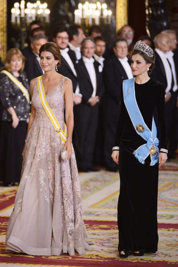 juliana awada letizia cena gala