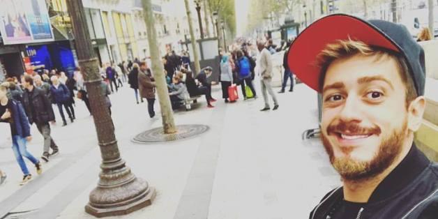 """Le dernier """"selfie"""" de Saad Lamjaared, pris à Paris le 25 octobre 2016, avant l'accusation de viol par une jeune Française de 20 ans"""