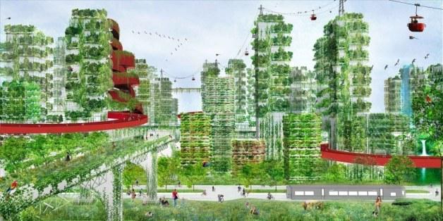 Ein italienischer Architekt plant eine Stadt in China, die überzogen von Bäumen und Sträuchern ist