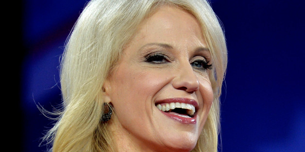 White House advisor Kellyanne Conway makes remarks during a broadcast of Sean Hannity's TV show during the opening day of the Conservative Political Action Conference (CPAC), an annual gathering of conservative politicians, journalists and celebrities, at National Harbor, Maryland, U.S., February 22, 2017. REUTERS/Mike Theiler