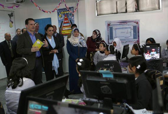 escuela en gaza