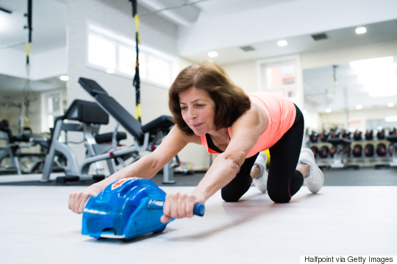 middle aged woman gym