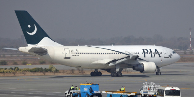 A Pakistan International Airlines (PIA) plane prepares to take-off at Alama Iqbal International Airport in Lahore February 1, 2012. The airline is hemorrhaging hundreds of millions of dollars a year while being pummeled by competition from sleek Gulf giants like Emirates, Etihad and Qatar Airways. A quarter of its 40 aircraft are grounded because the airline can't find enough money to buy spare parts. Flights are regularly cancelled and engineers say they are having to cannibalise some planes to