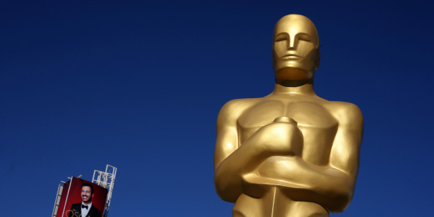 An Oscar statue is seen outside the Dolby Theatre as preparations continue for the 89th Academy Awards in Hollywood, Los Angeles, California, U.S. February 23, 2017. REUTERS/Lucy Nicholson