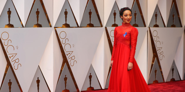 89th Academy Awards - Oscars Red Carpet Arrivals - Hollywood, California, U.S. - 26/02/17 - Actress Ruth Negga poses on the red carpet. REUTERS/Mike Blake