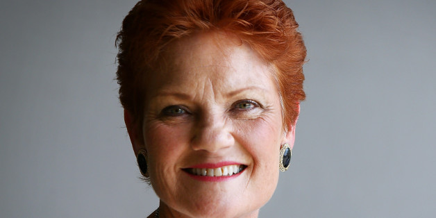 SUNSHINE COAST, AUSTRALIA - DECEMBER 08:  Senator Pauline Hanson speaks with the media and local taxi owners at Suncoast Cabs head office on December 8, 2016 in Sunshine Coast, Australia. Senator Hanson met with representatives from the Queensland taxi industry to discuss their concerns such as ride-sharing app Uber, which taxi licensees say is putting the industry in decline. Uber and other ride-sharing services have been legal in Queensland since September 2016.  (Photo by Lisa Maree Williams/
