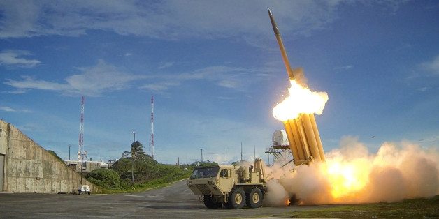 FILE PHOTO - A Terminal High Altitude Area Defense (THAAD) interceptor is launched during a successful intercept test, in this undated handout photo provided by the U.S. Department of Defense, Missile Defense Agency.  U.S. Department of Defense, Missile Defense Agency/Handout via Reuters/File PhotoATTENTION EDITORS - FOR EDITORIAL USE ONLY. NOT FOR SALE FOR MARKETING OR ADVERTISING CAMPAIGNS. THIS IMAGE HAS BEEN SUPPLIED BY A THIRD PARTY. IT IS DISTRIBUTED, EXACTLY AS RECEIVED BY REUTERS, AS A S