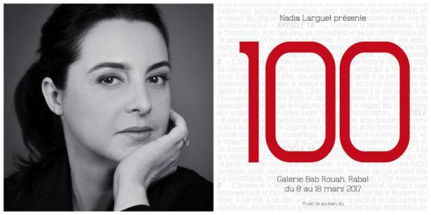 "Nadia Larguet, initiatrice de l'exposition ""100"""