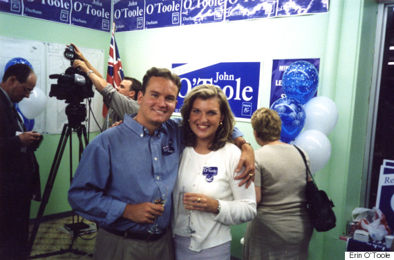Erin Ou0027Toole Poses For A Photo With Rebecca Grant At His Fatheru0027s Campaign  Office In 1999.