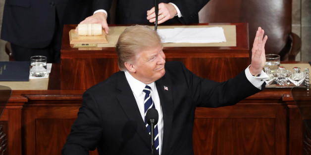 WASHINGTON, DC - FEBRUARY 28:  U.S. President Donald Trump addresses a joint session of the U.S. Congress on February 28, 2017 in the House chamber of  the U.S. Capitol in Washington, DC. Trump's first address to Congress focused on national security, tax and regulatory reform, the economy, and healthcare.  (Photo by Chip Somodevilla/Getty Images)