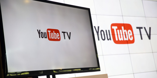 YouTube Inc. signage is displayed on a monitor after the company's new television subscription service was unveiled at the YouTube Space LA venue in Los Angeles, California, U.S., on Tuesday, Feb. 28, 2017. For $35 a month, starting sometime this spring, subscribers to YouTube TV will be able to watch the top four broadcast networks and some affiliated cable channels. Photographer: Patrick T. Fallon/Bloomberg via Getty Images