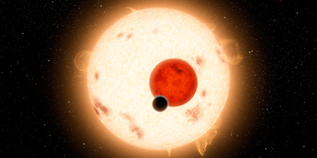 In this artist rendering, NASA's Kepler mission has discovered a world where two suns set over the horizon instead of just one. The planet, called Kepler-16b, is the most 'Tatooine-like' planet yet found in our galaxy. Tatooine is the name of Luke Skywalker's home world in the science fiction movie Star Wars. In this case, the planet it not thought to be habitable. It is a cold world, with a gaseous surface, but like Tatooine, it circles two stars. (Courtesy NASA/JPL-Caltech/R. Hurt via Fort Worth Star-Telegram/MCT via Getty Images)