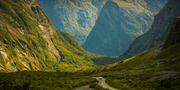 Beautiful scenery, on the way to Milford Sound, South island, New Zealand.
