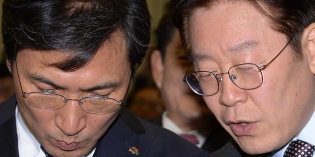 2월14일 오후 서울 중구 은행연합회관에서 열린 전국금융산업노조 회장 이취임식에 참석해 대화를 나누고 있는 모습. ⓒ뉴스1