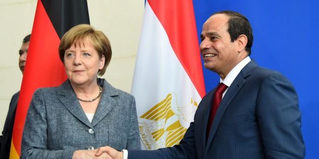 Angela Merkel und der ägyptische Präsident  Abdel Fattah al-Sisi