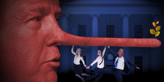 Die ersten 100 Lügen: Die Unwahrheiten der Trump-Regierung