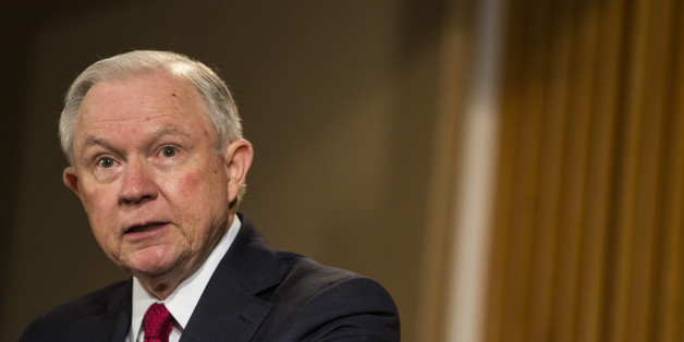 WASHINGTON, D.C. - FEBRUARY 28: U.S. Attorney General Jeff Sessions delivers remarks at the Justice Department's 2017 African American History Month Observation at the Department of Justice on February 28, 2017 in Washington, D.C. The event also included a showing of the documentary 'Too Important to Fail: Saving America's Boys.'  (Photo by Zach Gibson/Getty Images)