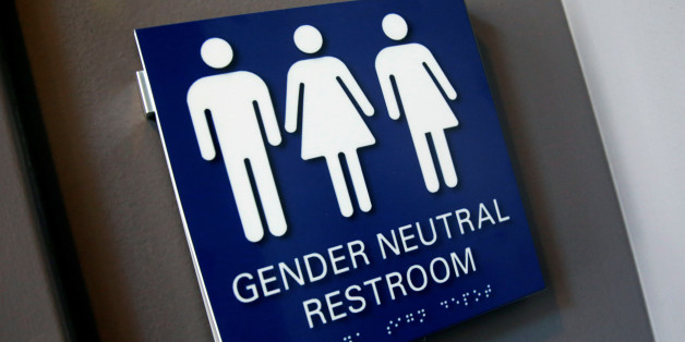 A Gender Neutral Restroom sign is seen placed outside a restroom for the 15th Annual Philadelphia Trans-Health Conference in Philadelphia, Pennsylvania, U.S., June 9, 2016.  REUTERS/Shannon Stapleton