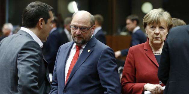 Was sich Athen von der Bundestagswahl verspricht - Griechenlands Premier Tispras, Schulz und Merkel