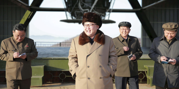 FILE PHOTO: North Korea leader Kim Jong Un smiles as he visits Sohae Space Center in Cholsan County, North Pyongan province for the testing of a new engine for an intercontinental ballistic missile (ICBM) in this undated photo released by North Korea's Korean Central News Agency (KCNA) on April 9, 2016.    REUTERS/KCNA      ATTENTION EDITORS - THIS PICTURE WAS PROVIDED BY A THIRD PARTY. REUTERS IS UNABLE TO INDEPENDENTLY VERIFY THE AUTHENTICITY, CONTENT, LOCATION OR DATE OF THIS IMAGE. FOR EDITO
