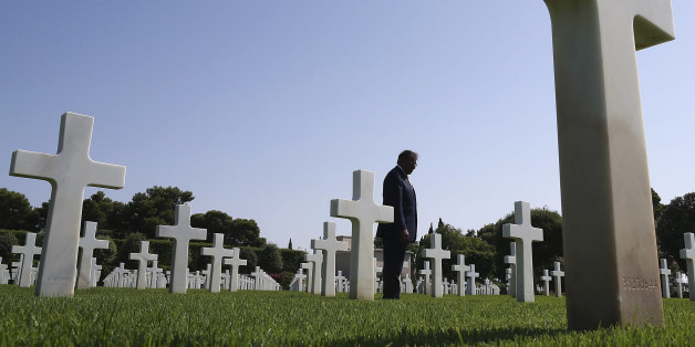 U.S. Secretary of Defense Leon Panetta tours the North Africa American Cemetery where 2,841 U.S. Soldiers who were killed in WWII are buried in Tunis July 30, 2012.  REUTERS/Mark Wilson/Pool ( TUNISIA - Tags: MILITARY POLITICS)