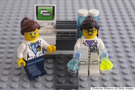 lego female scientist