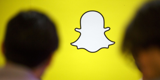 The Snapchat logo is displayed during the TechFair LA job fair in Los Angeles, California, U.S., on Thursday, Jan. 26, 2017. Filings for U.S. unemployment benefits rose more than forecast last week amid holiday-related volatility, while remaining low by historical standards. Photographer: Patrick T. Fallon/Bloomberg via Getty Images