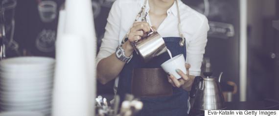 cafe barista woman hipster
