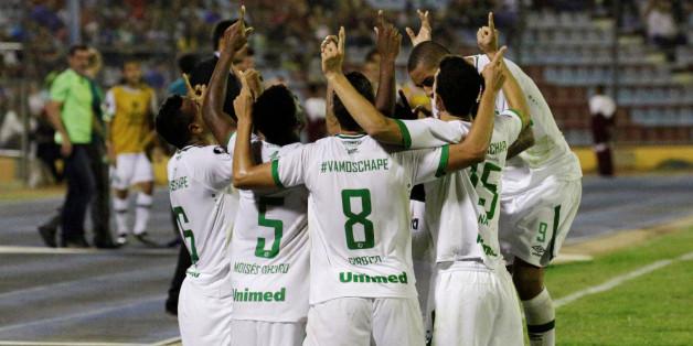 7 mars 2017 - Les joueurs célèbrent leur victoire face au Zulia FC en Copa Libertadores