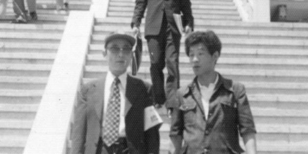 최태민과 조순제. 1975년 대한구국선교단 시절의 모습. 당시 최태민은 선고단의 총재로, 조순제는 홍보실장으로 활동했다.