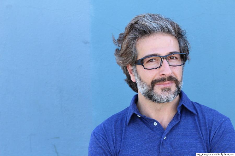 mature man glasses