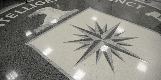 LANGLEY, VA - JANUARY 21:  The logo of the CIA is seen during a visit ofUS President Donald Trump the CIA headquarters on January 21, 2017 in Langley, Virginia .  Trump spoke with about 300 people in his first official visit with a government agaency.  (Photo by Olivier Doulier - Pool/Getty Images)