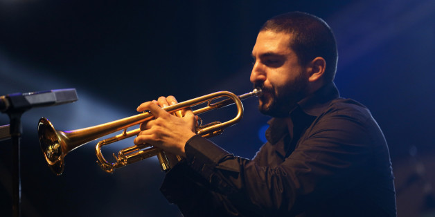 Trumpet player Ibrahim Maalouf performs during the 17th edition of the Gnaoua World Music Festival in Essaouira, Morocco on June 14, 2014. REUTERS/Youssef Boudlal (MOROCCO - Tags: ENTERTAINMENT SOCIETY)
