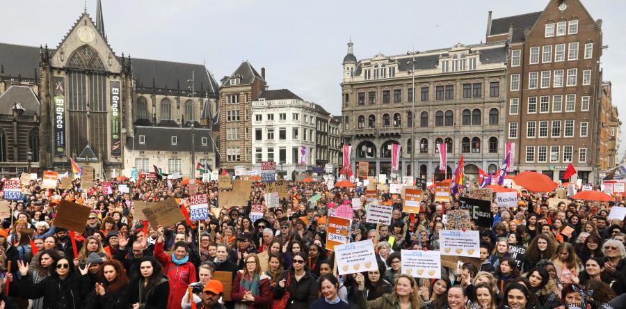 netherlands demonstrators election march 2017