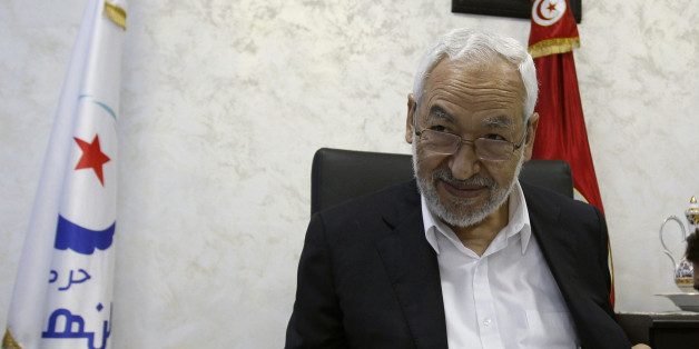 Rached Ghannouchi, leader of the Islamist Ennahda movement, speaks during an intervew with a Reuters journalist in Tunis August 5, 2013. Tunisia's ruling Islamist party is willing to go to referendum over whether to preserve transitional governance institutions, party chief Ghannouchi said on Monday, but stood firm against secular opposition efforts to oust the government. He added that his Ennahda party was open to dialogue to modify Tunisia's political transition. To match Interview TUNISIA-CRISIS/ENNAHDA REUTERS/Zoubeir Souissi (TUNISIA - Tags: POLITICS PROFILE)
