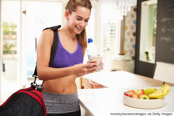 woman gym bag