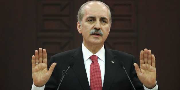 ANKARA, TURKEY - MARCH 13: Turkish Deputy Prime Minister Numan Kurtulmus gives a speech during a press conference after the cabinet meeting in Ankara, Turkey on March 13, 2017. (Photo by Emin Sansar/Anadolu Agency/Getty Images)