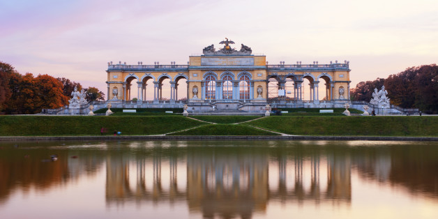'Famous Gloriette right before the sunset. (Schoenbrunn, Vienna, Austria).'