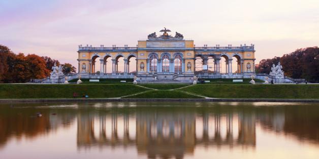 'Famous Gloriette right before the sunset. (Schoenbrunn, Vienna, Austria).'