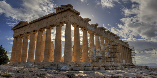 Parthenon in Acropolis of Athens Greece