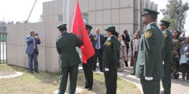 Le drapeau marocain hissé au siège de l'Union africaine